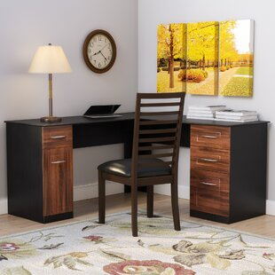 Office desk with drawers Narrow Dahlin Executive Desk With Drawers Wayfair Drawer Wood Office Desk Wayfair
