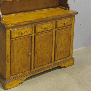 Pine Hutch 3 Door and 3 Drawer Accent Cabinet by Sarreid Ltd