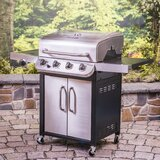 Char-Broil Performance Series 4-Burner Propane Gas Grill with Side Burner and Cabinet