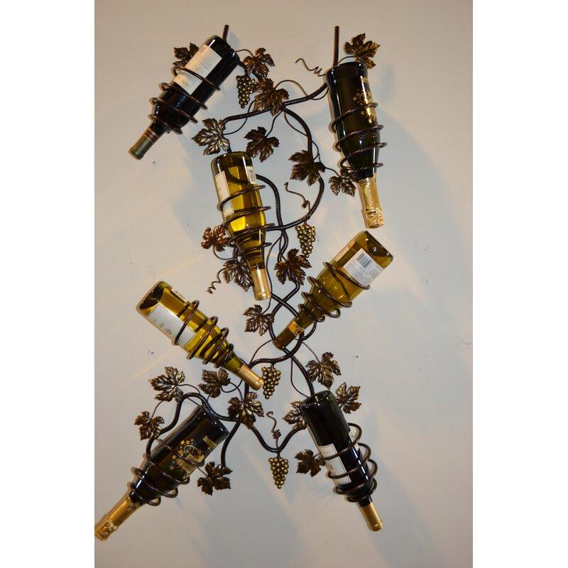 Unique Wine Racks | 7 Bottle Grapevine Wall Mounted Wine Rack