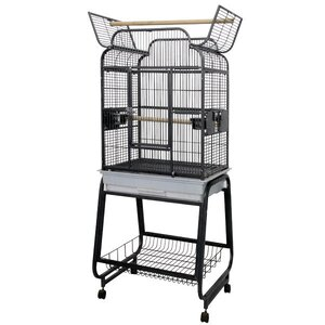 Victorian Open Play Top Bird Cage with Stand