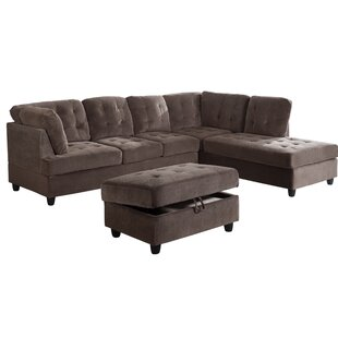 Speaks Sectional With Ottoman by Ebern Designs Purchase