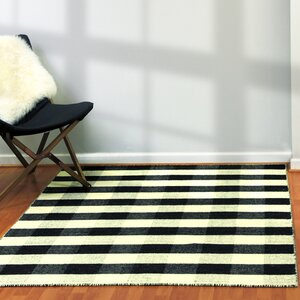 Pickering Hand Woven Wool Black/Ivory Area Rug