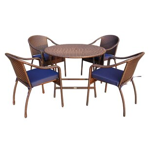 Jeco Inc. 5 Piece Dining Set with Cushion