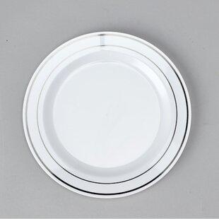 Plastic Disposable Dinner Plate (Set of 180)