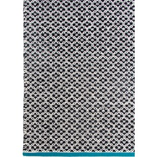 Affordable Zen Hand-Woven Black Area Rug By Fab Habitat