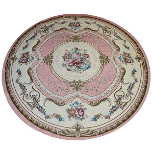 Banker French Pink Rug by Longweave