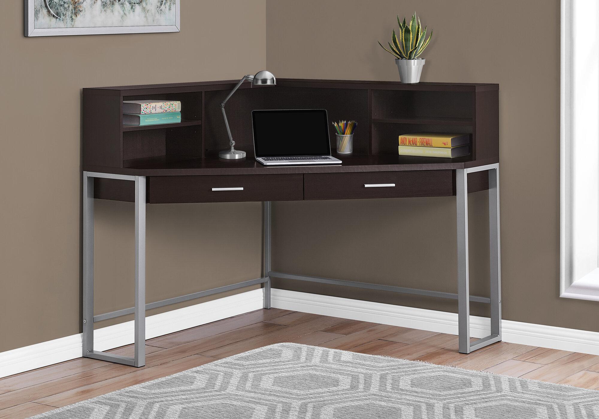 - Ebern Designs Umaima Corner Desk With Hutch Wayfair