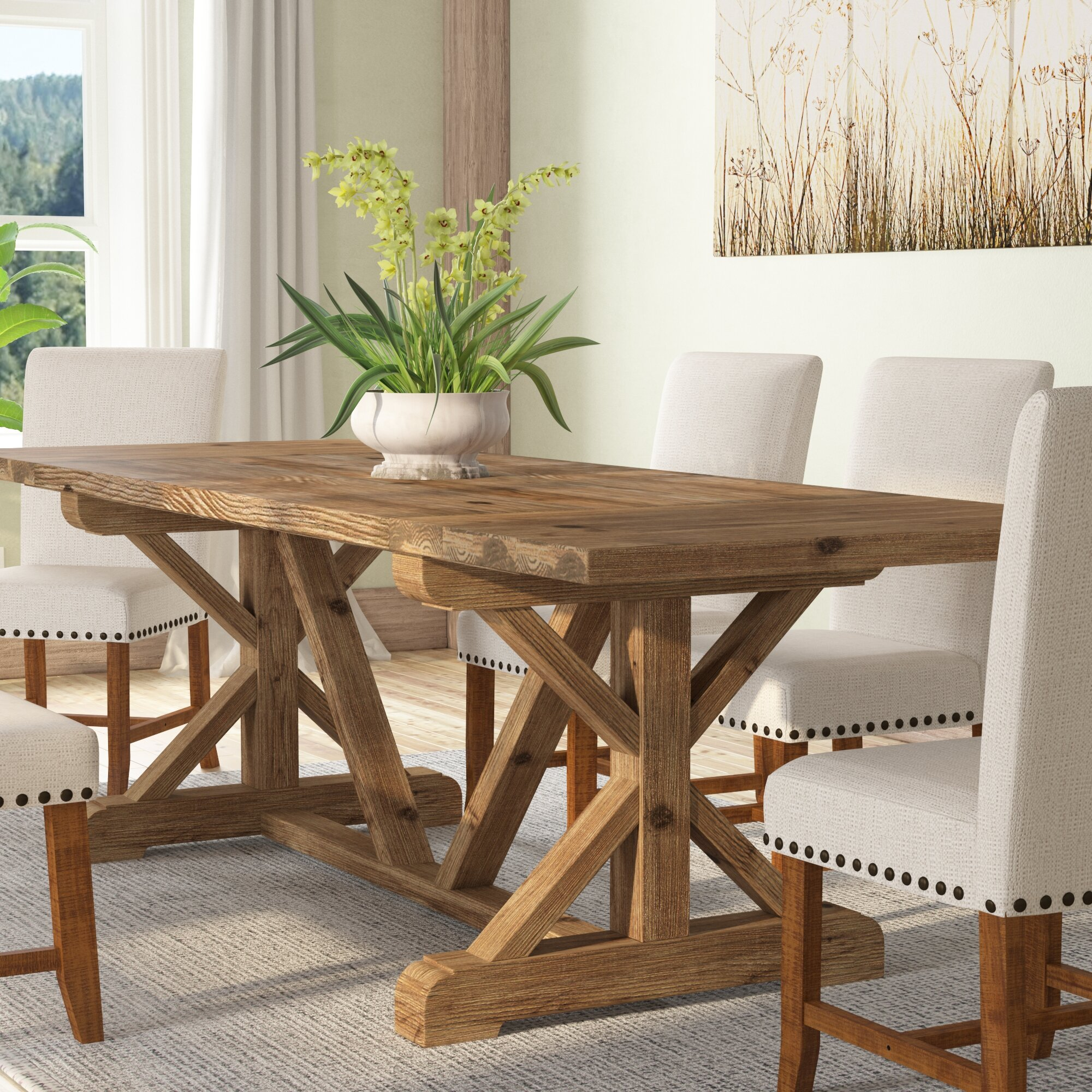 Gracie Oaks Camden Den Solid Wood Extendable Dining Table Reviews Wayfair
