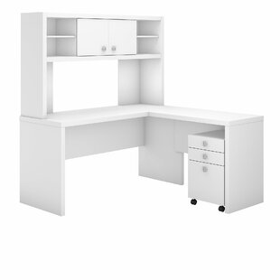 Kathy Ireland Office by Bush Echo 3 Piece L-Shaped Desk Office Suite