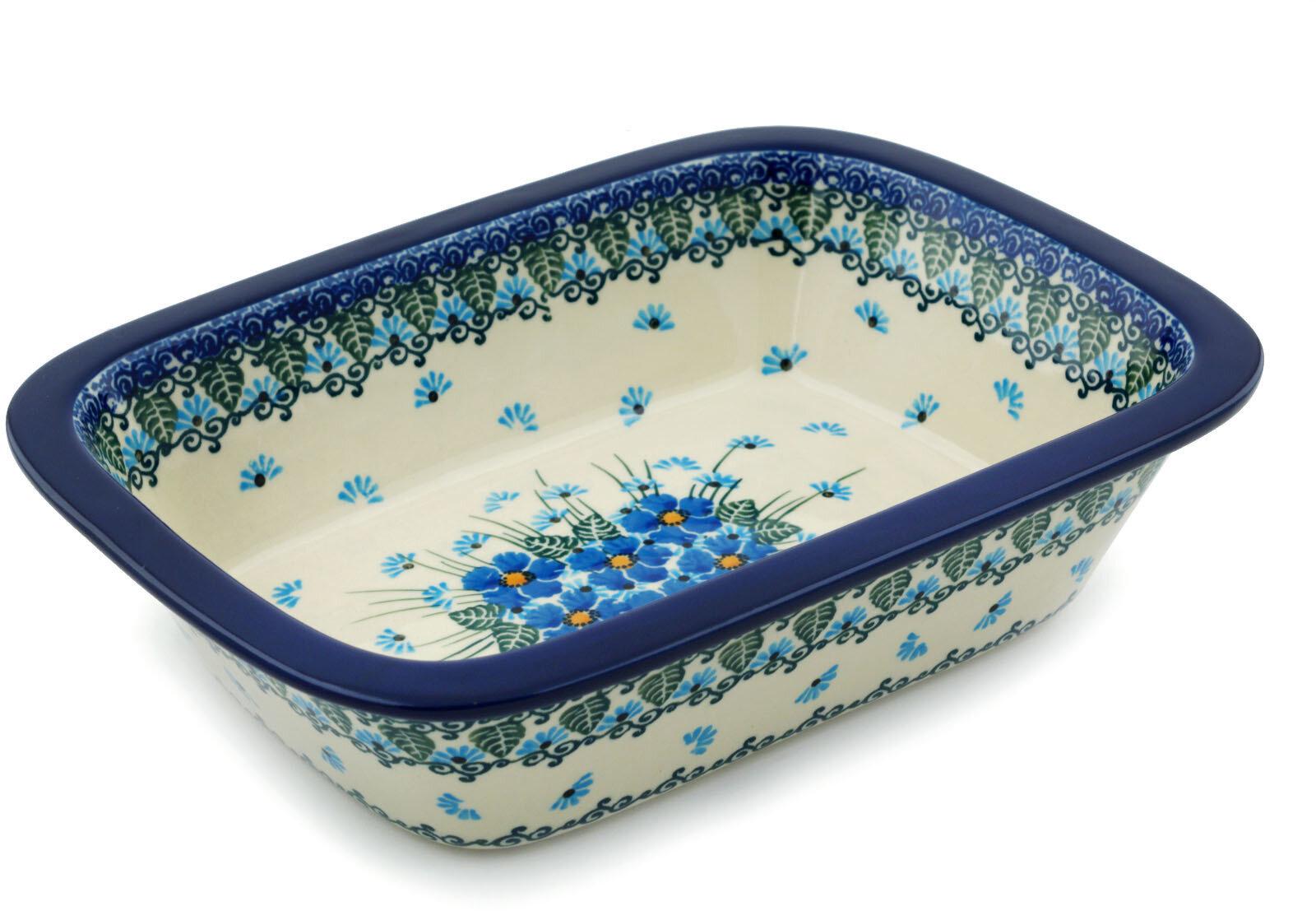 The Holiday Aisle Rowen 1 1 Qt Stoneware Rectangular Pottery Baker Reviews Wayfair