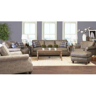 Canora Grey Belloreid Leather Configurable Living Room Set