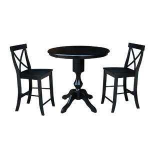 Suazo Extension Counter Height 3 Piece Pub Table Set August Grove