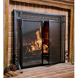 wooden fireplace screen. Fire Screens Fireplace  Doors You ll Love Wayfair