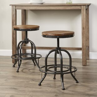 South Gate Adjustable Height Bar Stool (Set of 2)