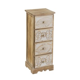Slavkov Leaves 3 Drawer Chest By World Menagerie