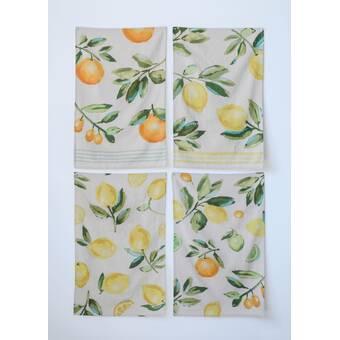 Canora Grey 5 Piece Lemon Tea Towel | Wayfair