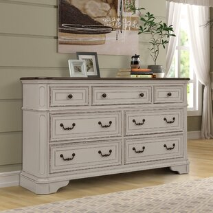 Lilia Oak Wood 7 Drawer Dresser