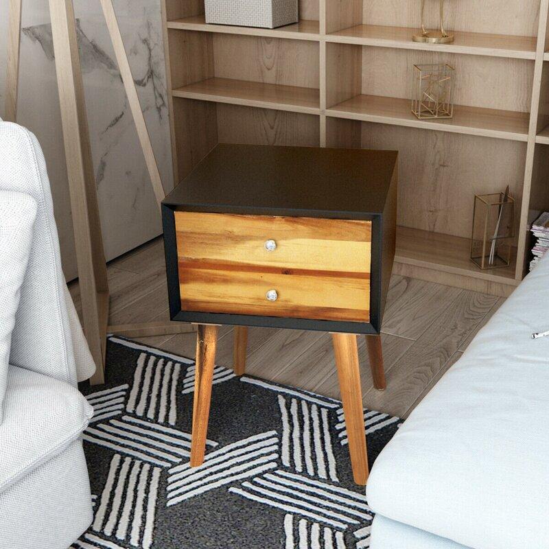 Corrigan Studio Bankcroft 2 Drawer End Table Wayfair