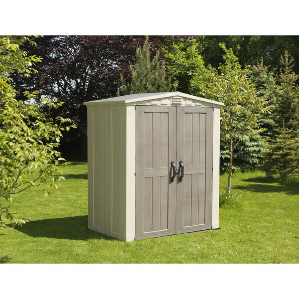 keter factor 5 ft 10 in w x 3 ft 9 in d plastic tool shed reviews wayfair - Garden Sheds 5 X 9