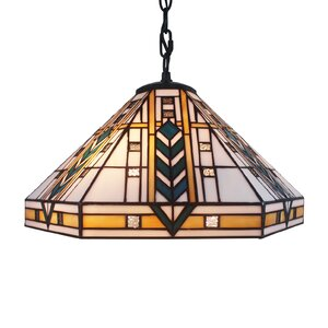 Eljie 1-Light Ceiling Bowl Pendant