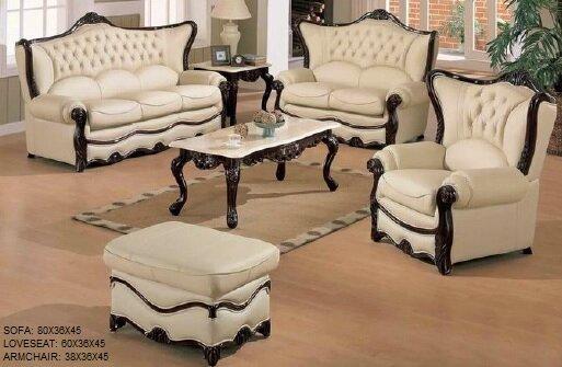 Bon Joseph Louis Home Furnishings Elegant 3 Piece Leather Living Room Set |  Wayfair