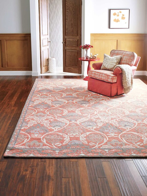 CompanyC Quinn Hand-Hooked Coral Area Rug & Reviews | Wayfair