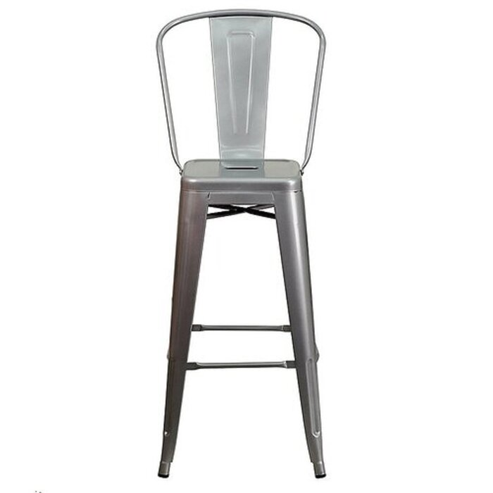 Superb Monroe High Back Bar Stool Squirreltailoven Fun Painted Chair Ideas Images Squirreltailovenorg