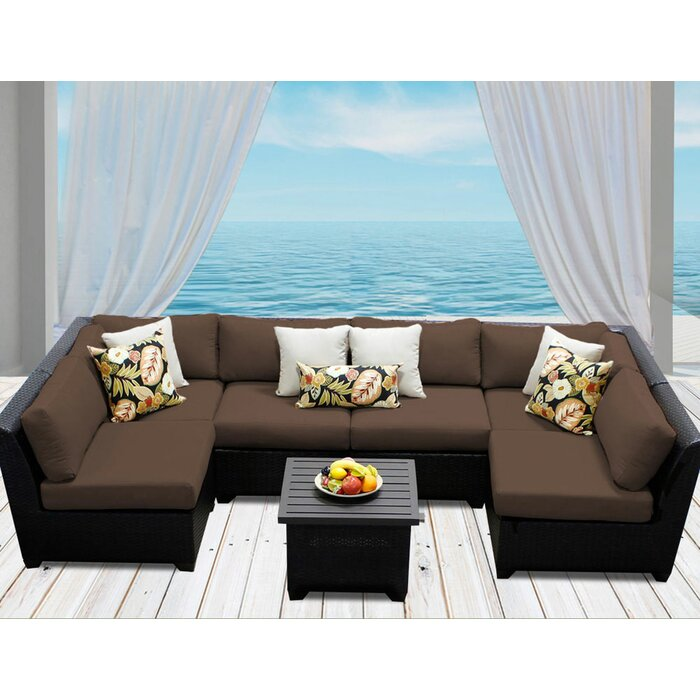 Camak 7 Piece Sectional Seating Group with Cushions ...