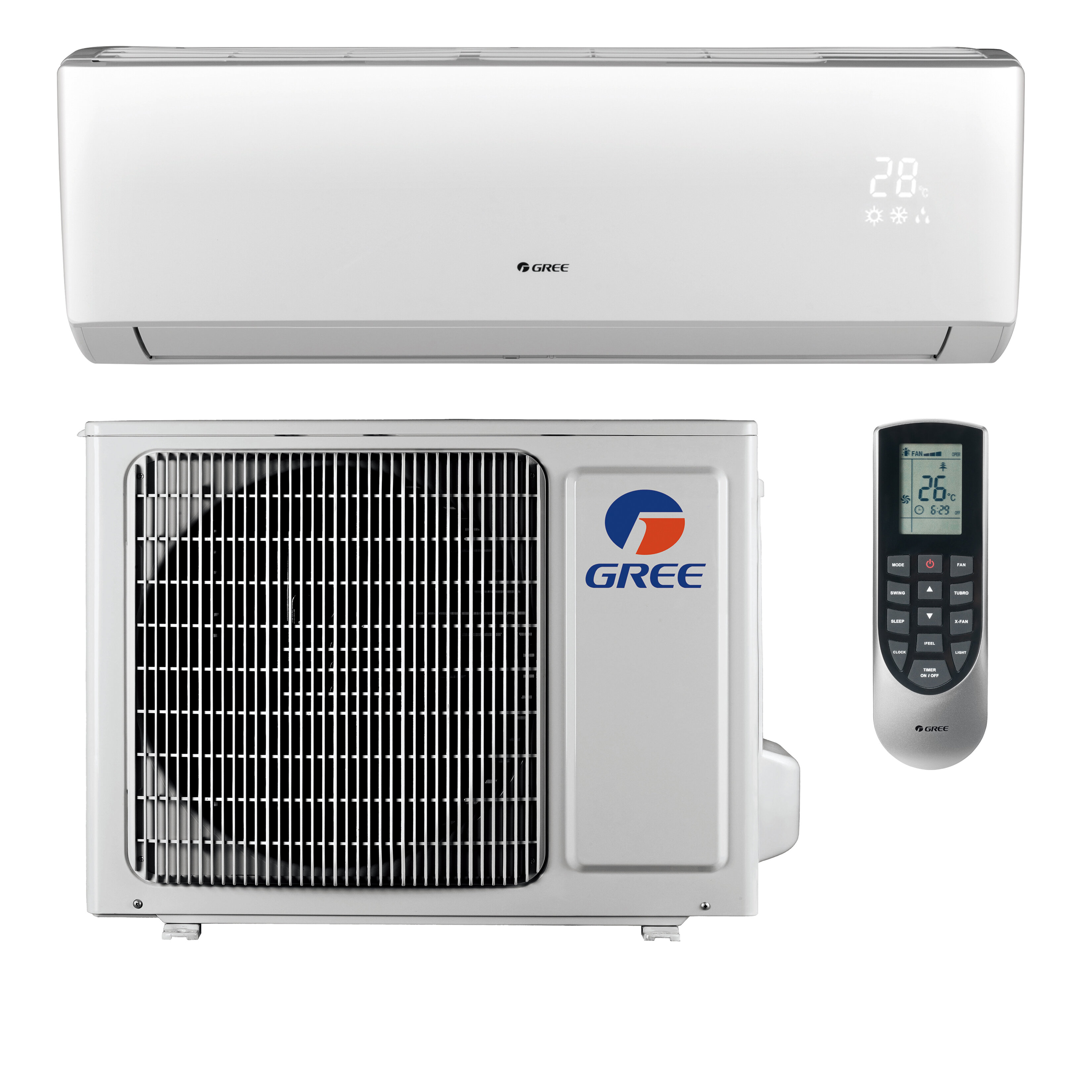 Gree Livo 28 000 Btu Ductless Mini Split Air Conditioner With Heater And Remote Wayfair