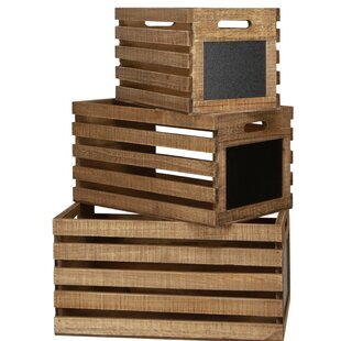 Affordable Slat 3 Piece Wood Crate Set By Gracie Oaks