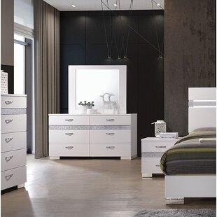 Lauer 6 Drawer Double dresser with Mirror