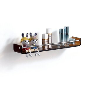 Fab Glass and Mirror Glass Wall Shelf