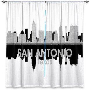 City IV San Antonio Texas Angelina Vick's Room Darkening Curtain Panels (Set Of 2) by East Urban Home