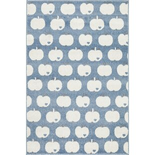Apple Blue/White Rug by Livone