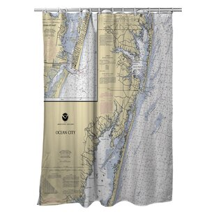 Ellisburg Ocean City, MD Single Shower Curtain