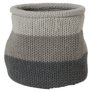 Knitted Fabric Basket By Union Rustic
