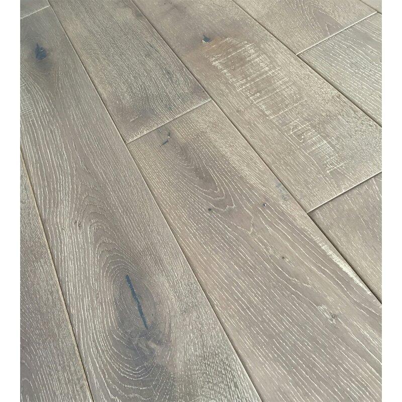 Jasmine 6 Solid Oak Hardwood Flooring In Distressed Driftwood