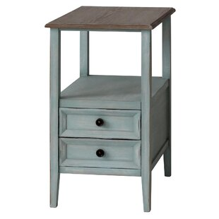 August Grove Priolo 2 Drawer End Table