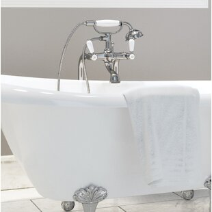 Best Reviews Casetta Double Handle Floor Mounted Clawfoot Tub Faucet with Hand Shower By Ancona