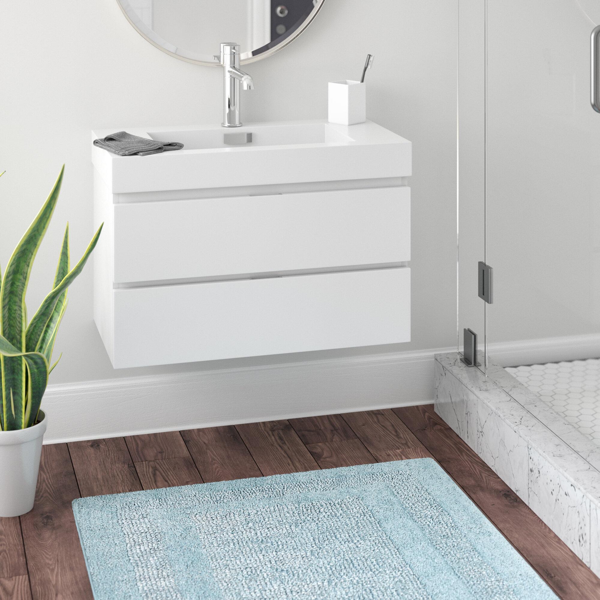 Wade Logan Tenafly 36 Wall Mounted Single Bathroom Vanity Set Reviews Wayfair