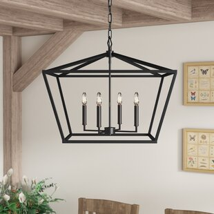 Indigo 4-Light Lantern Chandelier by Ando..