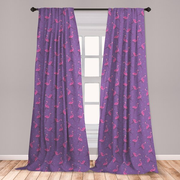 Kids Zone Home Linen 2 Panel Window Curtain Set Unicorn Castle Rainbow Stars Purple Lavender Pink Lavender//Purple for Girls Teen-Girls New