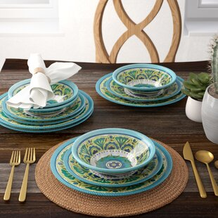 Ludie 12 Piece Melamine Dinnerware Set