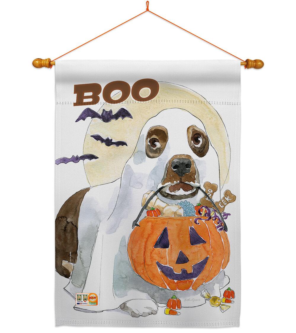 Breeze Decor Halloween Boo Doggie 2 Sided Polyester 40 X 28 In Flag Set Wayfair