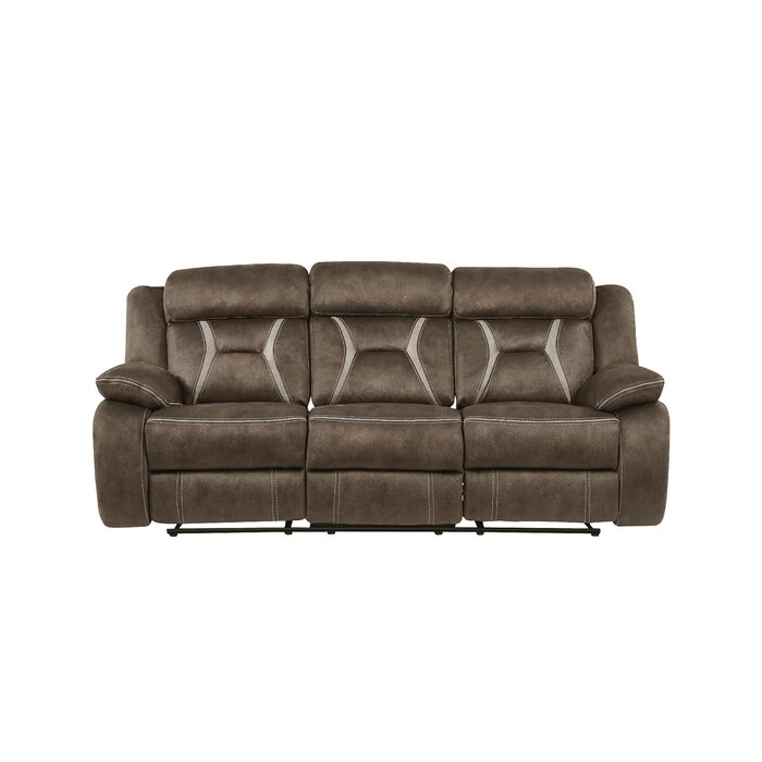 Stupendous Mateas Stitched Fabric Reclining Sofa Ibusinesslaw Wood Chair Design Ideas Ibusinesslaworg