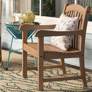 Elsmere Stacking Teak Patio Dining Chair (Set of 2)