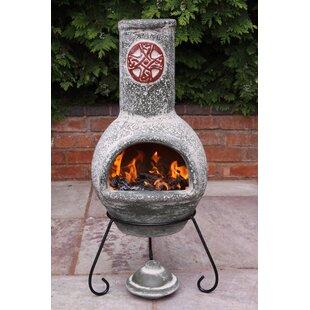 Cruz Clay Charcoal/Wood Burning Chiminea By Gardeco