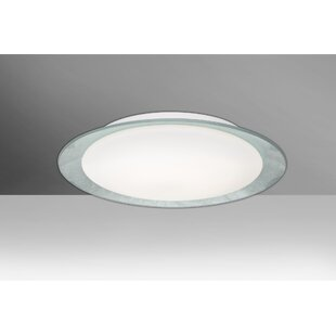 Latitude Run Fidelia Handcrafted 1-Light LED Flush Mount