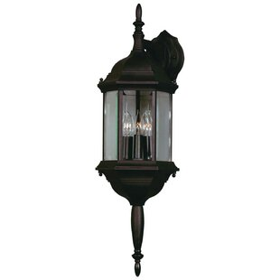 Affordable Price Custom Fit 3-Light Outdoor Wall Lantern By Wildon Home ®